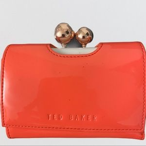 Ted Baker Coral And Gold Wallet